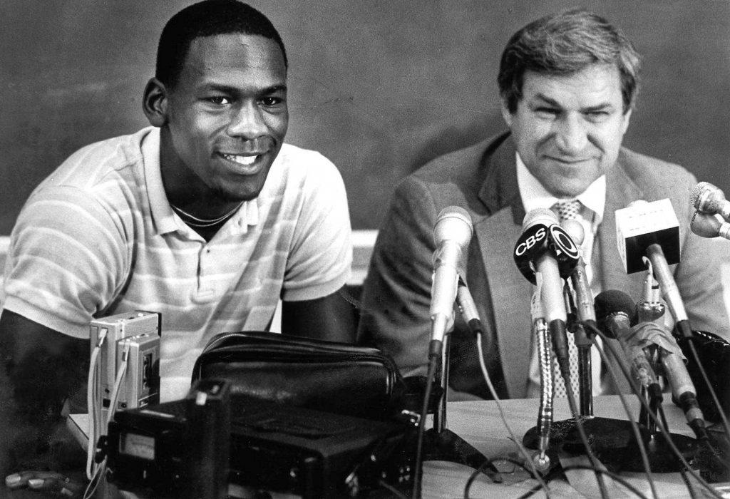 Michael Jordan and Dean Smith