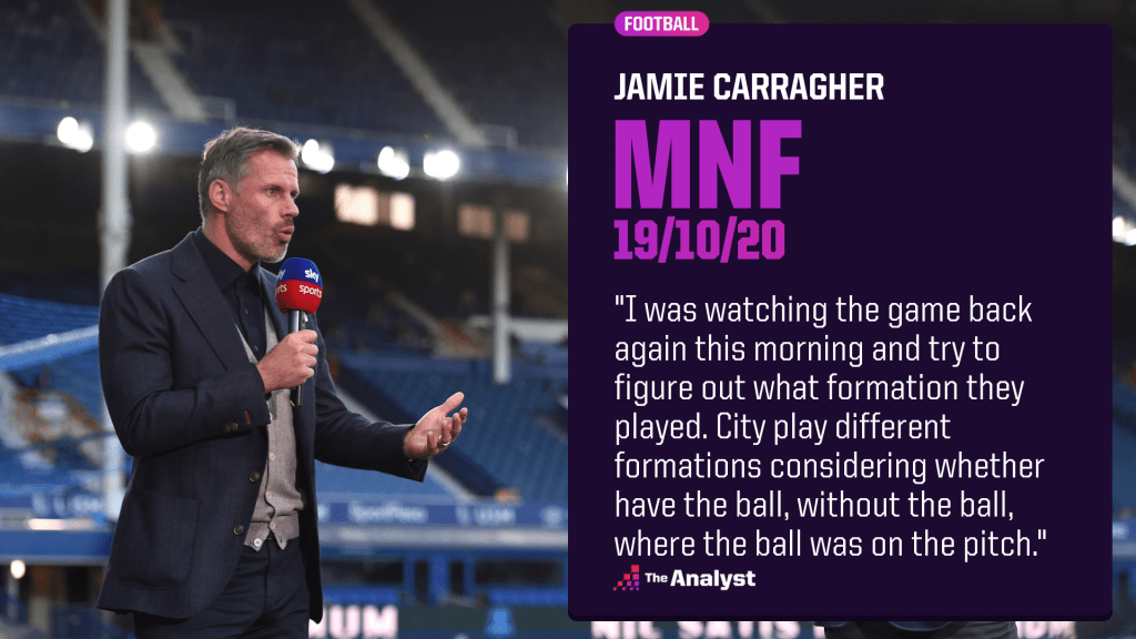 jamie carragher MNF formations quote