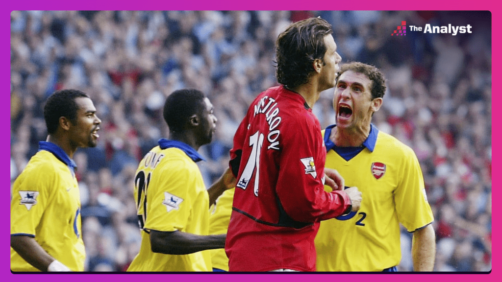Martin Keown faces up to Ruud van Nistelrooy