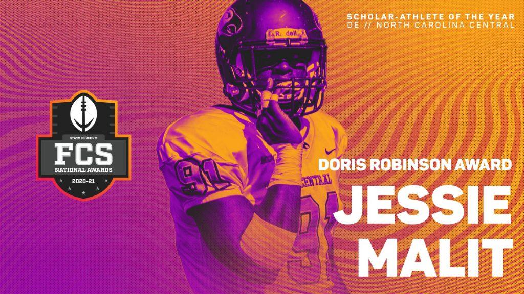 North Carolina Central's Jessie Malit Selected For 2020-21 Doris Robinson Scholar-Athlete Award