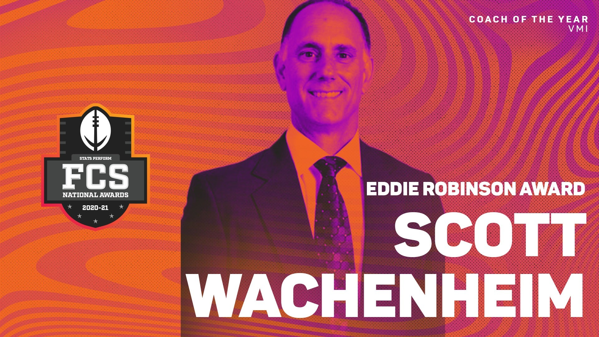 VMI's Scott Wachenheim Selected 34th Eddie Robinson Award Winner as FCS Coach of the Year