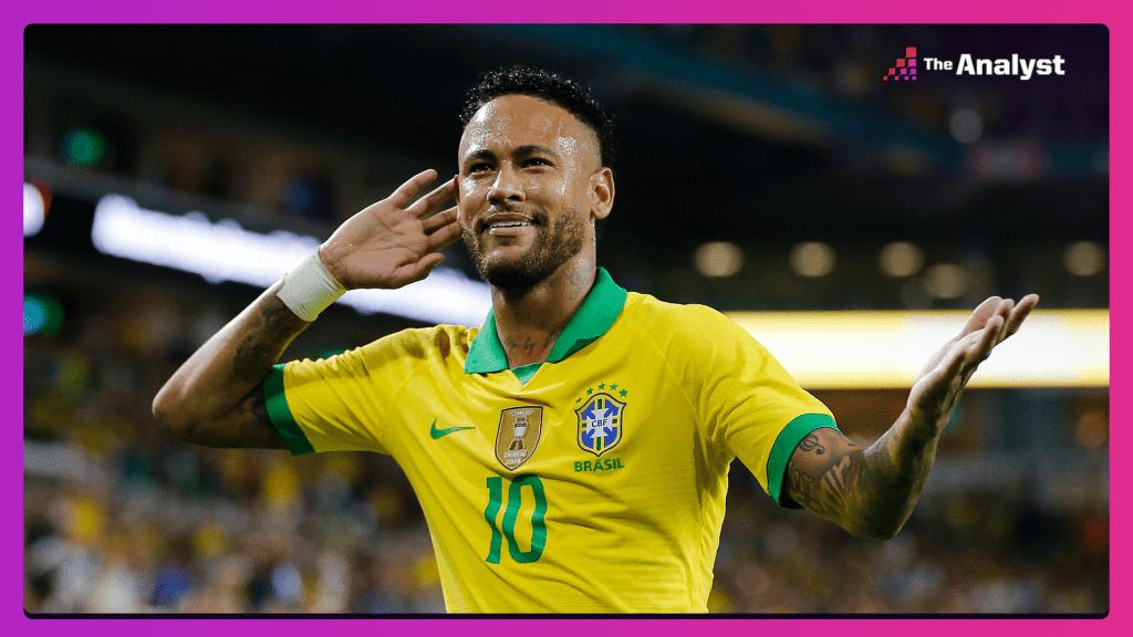 neymar closing in on pele's brazil goal record