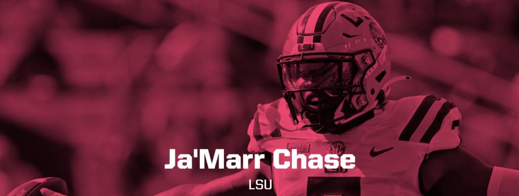 Ja'Marr Chase LSU header image