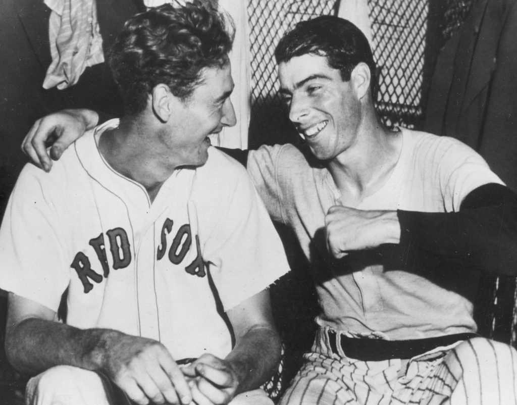 Ted Williams and Joe DiMaggio in 1941