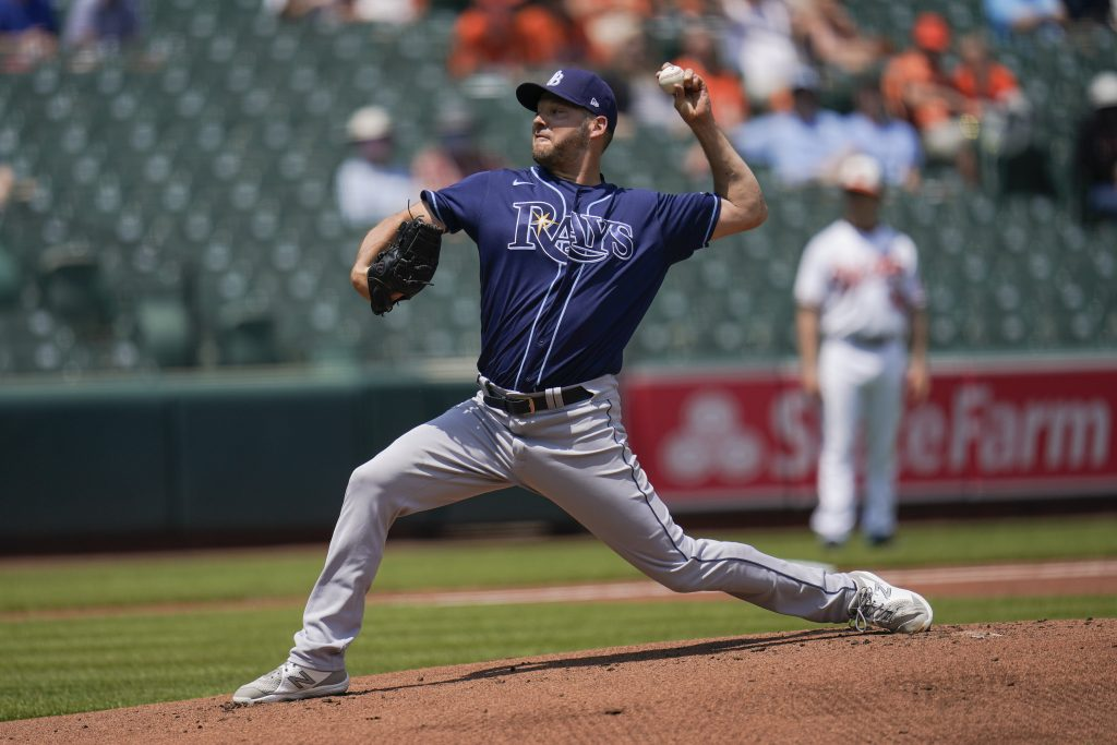 Rich Hill of the Tampa Bay Rays