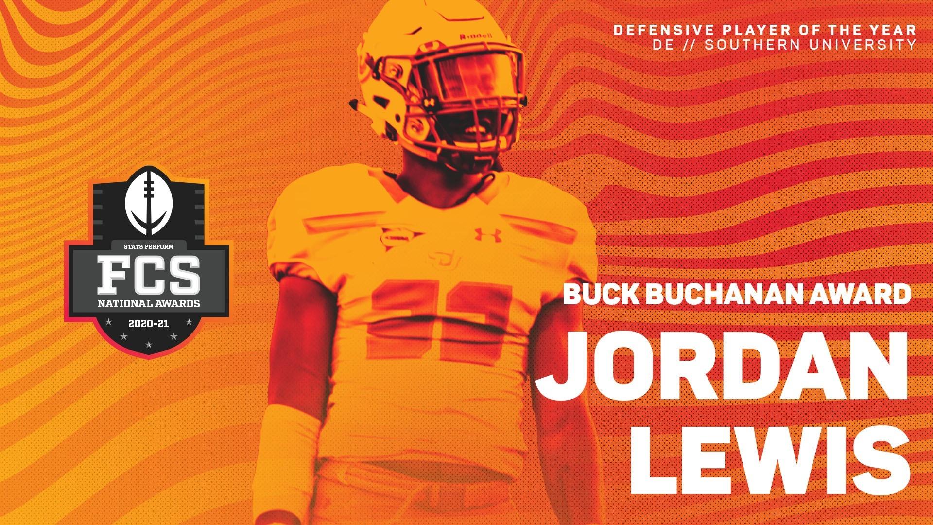 Southern's Jordan Lewis is 26th Buck Buchanan Award Recipient
