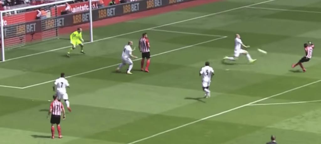 Sadio Mane 3rd goal vs Aston Villa