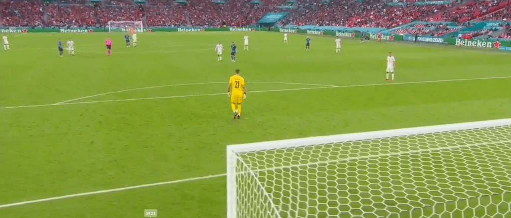 Donnarumma view from behind gola