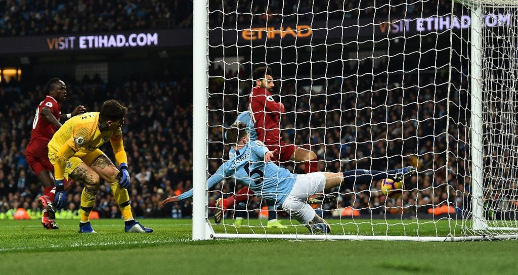John Stones prevents ball from going over the line vs. liverpool
