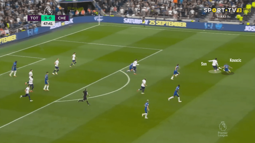 Kovacic tackle on Son early second half